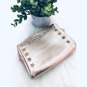 Rose Gold Stars Mini Makeup Bag